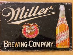 "Kyltti ""Miller, Brewing Company"""