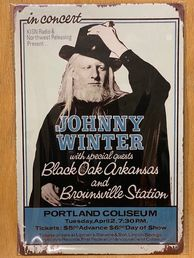 Kyltti Johnny Winter