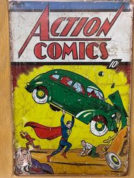 Kyltti Action Comics